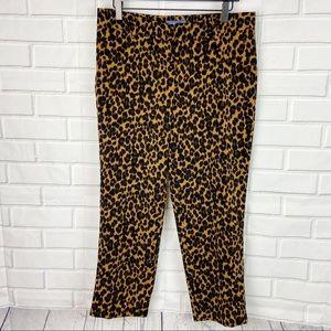 Old Navy Harper Mid Rise cheetah animal pants 10